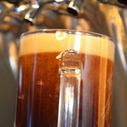 A beer being drafted into a mug for a customer's enjoyment at Günter Hans on November 20, 2013. This beer is one of their many imported alcoholic beverages. Photo by Berkeley Lovelace Jr.