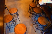 The bar stools sitting in Günter Hans on November 20, 2013. They match the décor of the establishment and add to the genuine artisan feel. Photo by Berkeley Lovelace Jr.